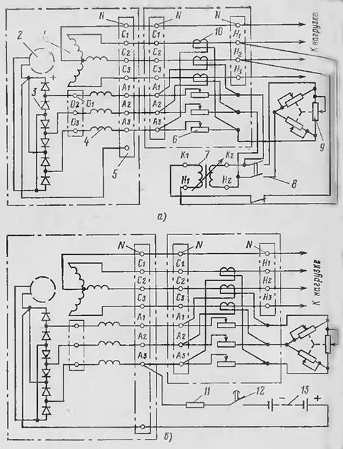 Рис.7. Принципиальная схема генератора ЕСС-5 с начальным возбуждением.